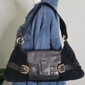 Banana Republic Black Purse Handbag Cow Leather